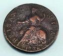 1738 Halfpenny Great Britain George II Britannia C