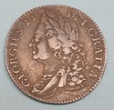 1743 UK Great Britain Silver Shilling Coin George