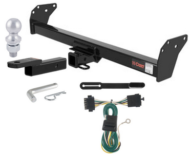 curt class 3 trailer hitch tow package for 84 91 chevy s10. Black Bedroom Furniture Sets. Home Design Ideas