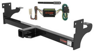 curt class 3 trailer hitch & wiring for 96-99 acura slx/92 ... acura slx trailer wiring harness