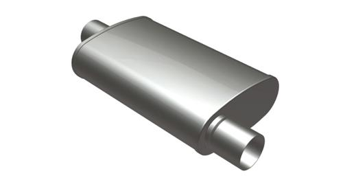 Magnaflow Exhaust Satin Stainless Steel Muffler Inlet//Outlet 2.5in//2.5in 13216