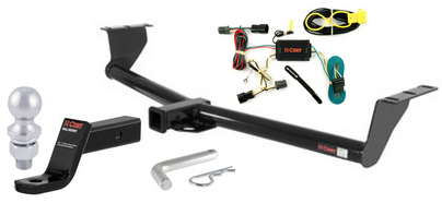 curt class 3 trailer hitch tow package for hyundai. Black Bedroom Furniture Sets. Home Design Ideas