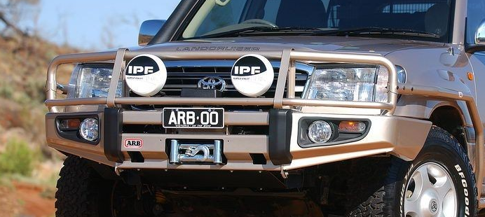 Arb 3413190 deluxe bull bar w winch mount for toyota land cruiser arb 3413190 deluxe bull bar w winch mount for toyota land cruiser 100 series ebay mozeypictures Choice Image
