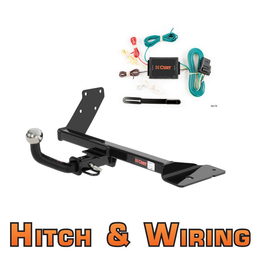 Trailer Wiring Harness Vw Jetta : Curt class trailer hitch wiring euro kit w quot ball