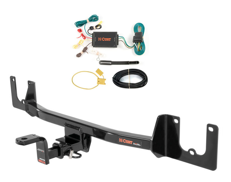 curt class 1 trailer hitch & wiring w/ old-style ball ... toyota tacoma trailer wiring adapter