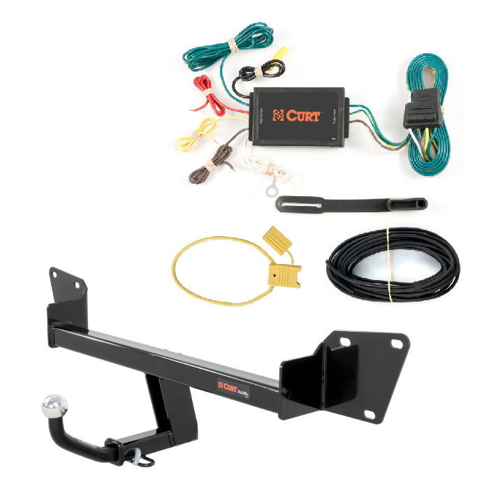 curt class 1 trailer hitch wiring w 1 7 8 euromount. Black Bedroom Furniture Sets. Home Design Ideas