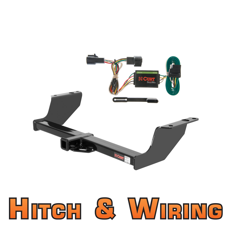 curt class 2 trailer hitch wiring for 93 99 ford ranger 94 08 mazda b series ebay