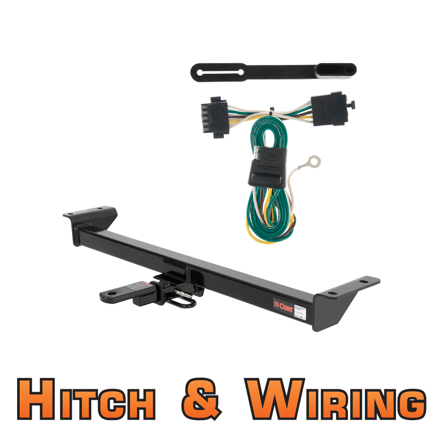 curt class 2 trailer hitch w mount wiring for 84 91. Black Bedroom Furniture Sets. Home Design Ideas