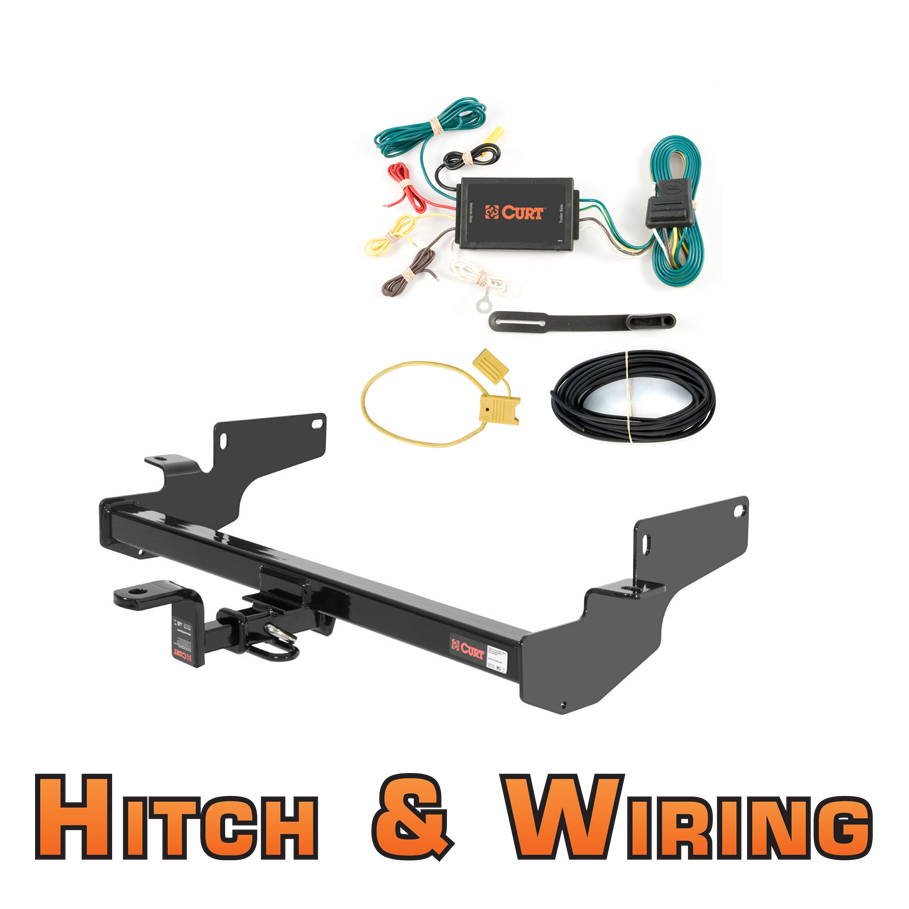 Curt Class 2 Trailer Hitch W/Mount & Wiring For Cadillac