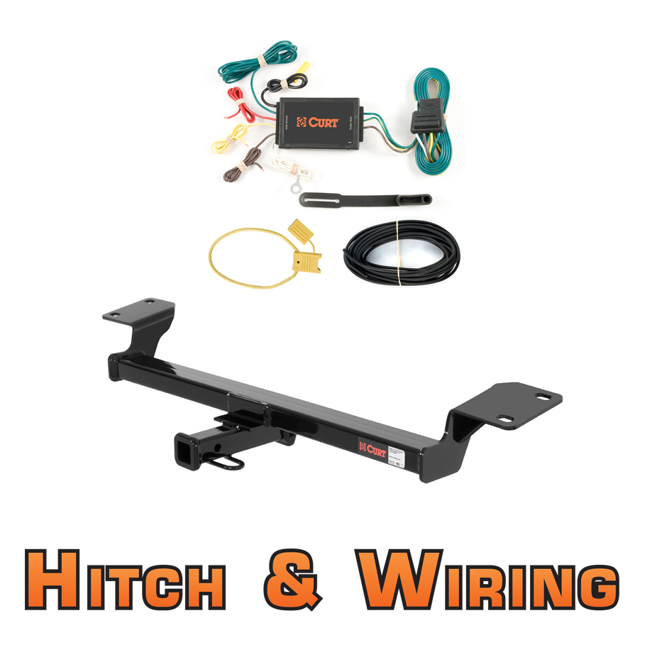 curt class 2 trailer hitch wiring for pontiac vibe toyota matrix ebay