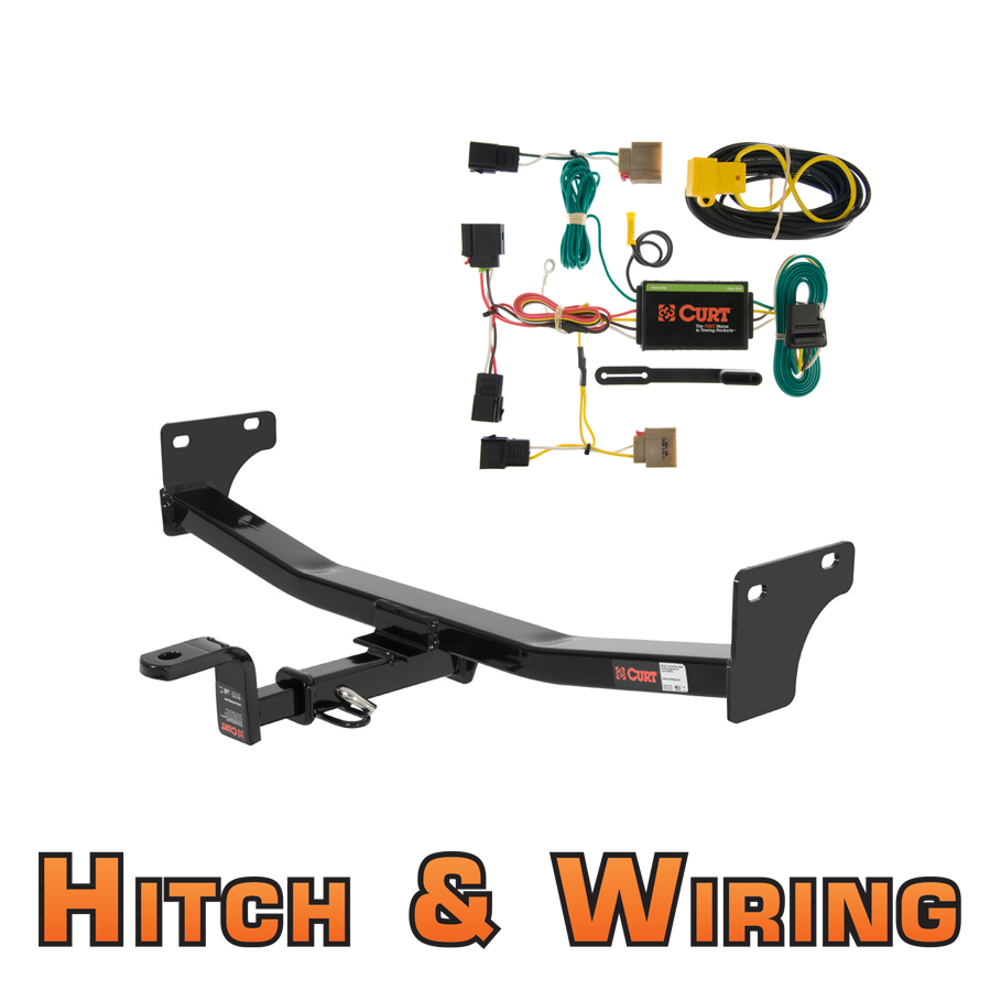 curt class 2 trailer hitch w  mount  u0026 wiring for 07