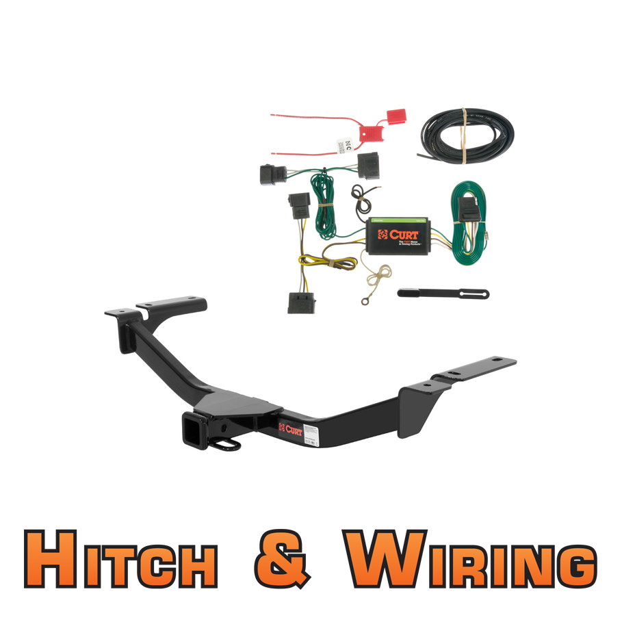 curt class 3 trailer hitch wiring for 2007 2010 ford. Black Bedroom Furniture Sets. Home Design Ideas