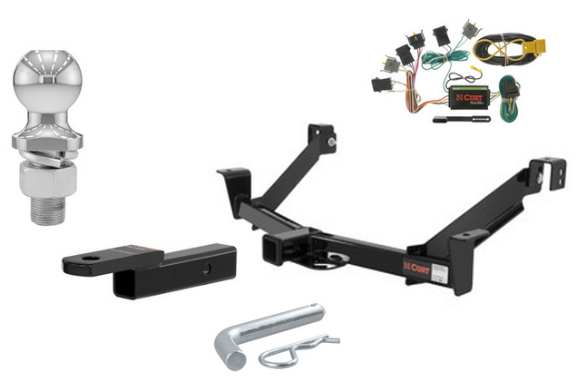 curt class 3 trailer hitch tow package for ford explorer mercury mountaineer. Black Bedroom Furniture Sets. Home Design Ideas