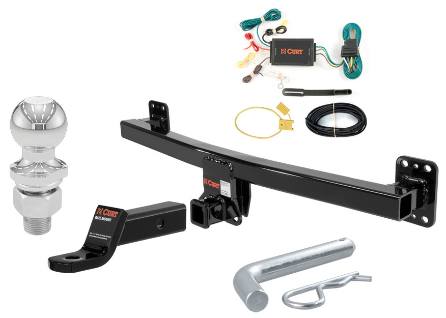 Curt Class 3 Trailer Hitch Tow Package W   2 U0026quot  Ball Dia  For