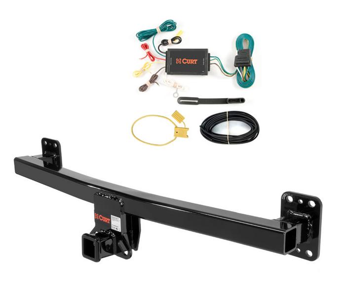 curt class 3 trailer hitch & wiring for porsche cayenne | ebay porsche cayenne trailer hitch wiring harness