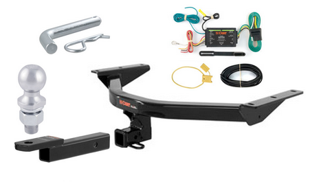 curt class 3 trailer hitch tow package for acura mdx ebay. Black Bedroom Furniture Sets. Home Design Ideas