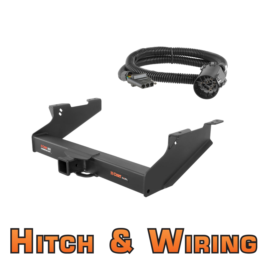 curt class 5 cd trailer hitch & wiring for 2010-2011 dodge ... dodge ram trailer hitch wiring 98 dodge ram trailer plug wiring diagram #4