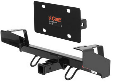 curt front mount trailer hitch license plate holder for jeep liberty. Black Bedroom Furniture Sets. Home Design Ideas