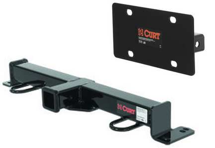 Curt Front Mount Trailer Hitch Amp License Plate Holder For