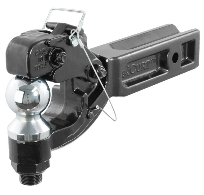 Trailer Hitches For Sale >> Details About Curt 48012 Trailer Hitch Ball Mount Pintle Combination For 2 5 Receivers