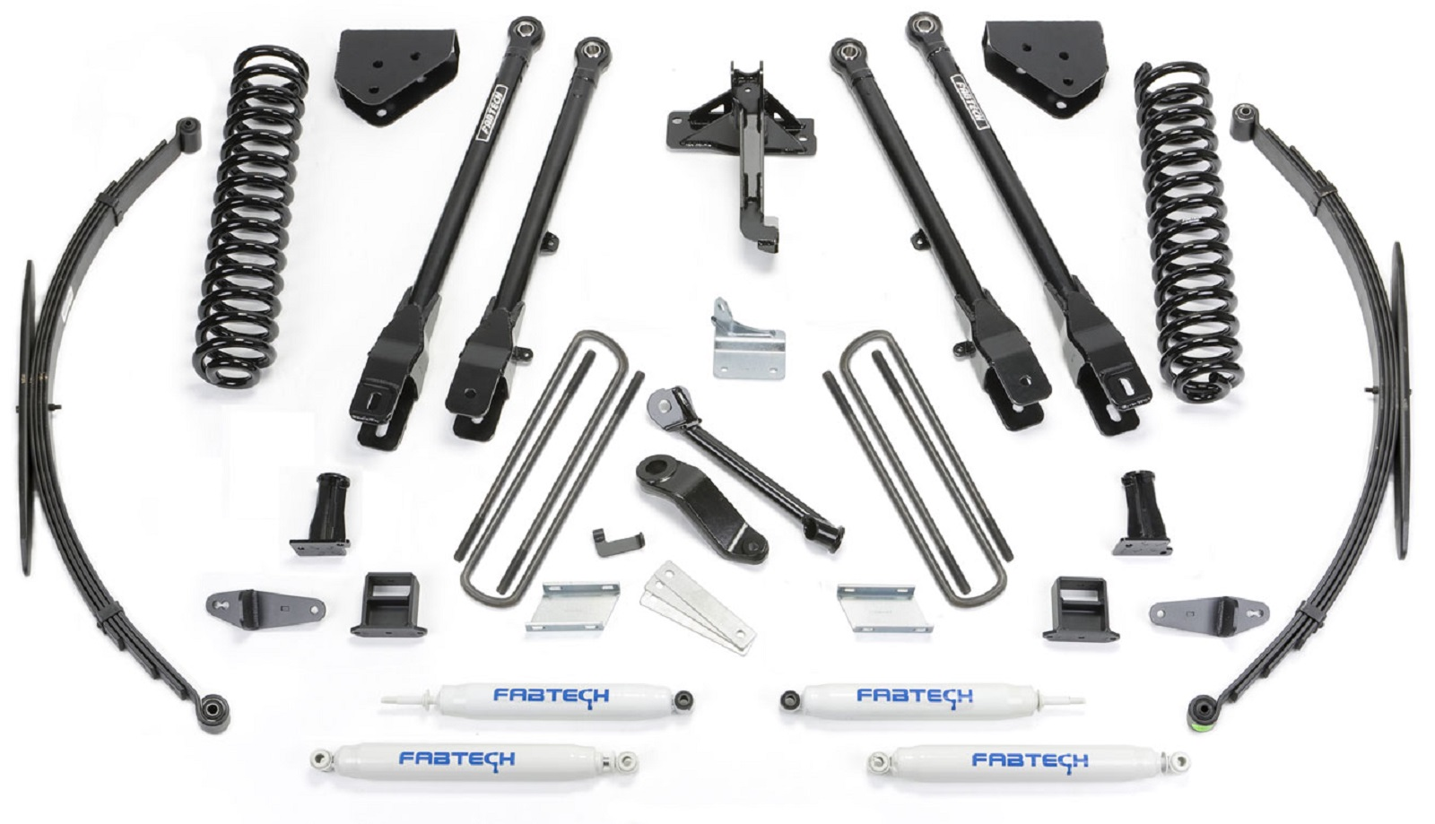 Fabtech K2129 8  4 Link System w/ Performance Shocks for Ford F250/F350/F450 4WD  sc 1 st  eBay & Fabtech K2129 8