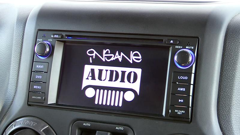 Insane Jeep Audio In dash Navigation and Multimedia Entertainment System JK1001