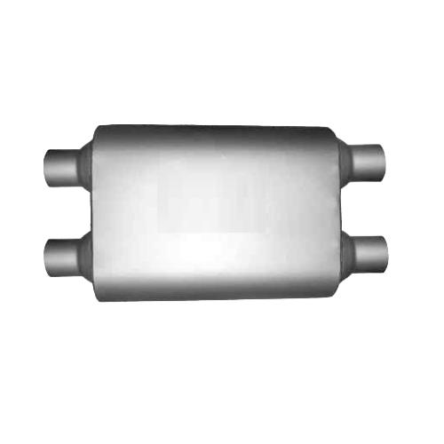 Single chamber muffler sound