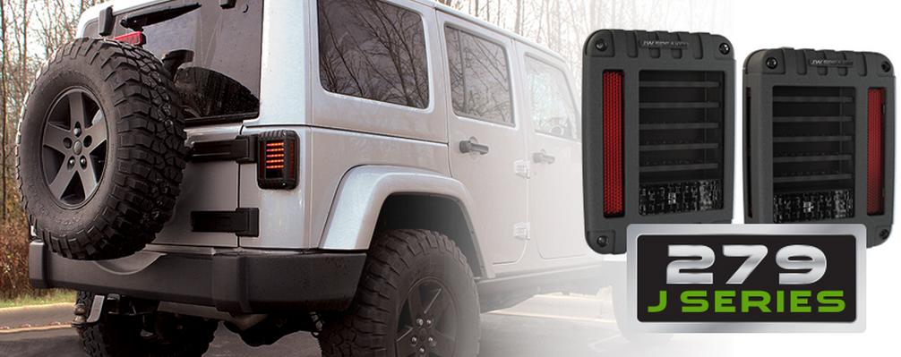 jw speaker 0347531 blacked out led tail light kit model 279 j series for jeep ebay. Black Bedroom Furniture Sets. Home Design Ideas