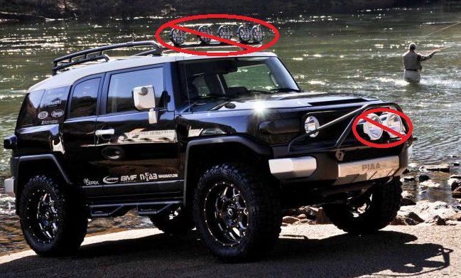 N fab tfj5flr black roof mounted light bar fits fj cruiser for up to n fab tfj5flr black roof mounted light bar fits fj cruiser for up to 5 lights mozeypictures Choice Image