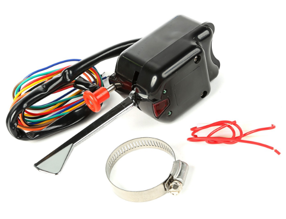 omix ada black turn signal switch w wiring. Black Bedroom Furniture Sets. Home Design Ideas