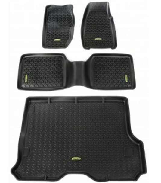 Outland 391298830 Black Floor Liners Kit For 84 01 Jeep Cherokee Xj