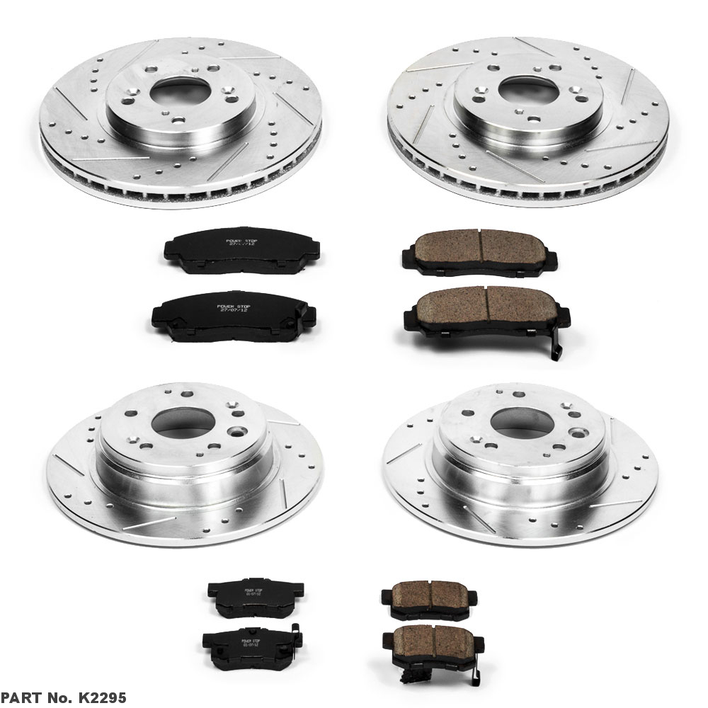Power Stop Z23-1896 Front Z23 Evolution Sport Carbon Fiber-Ceramic Brake Pads