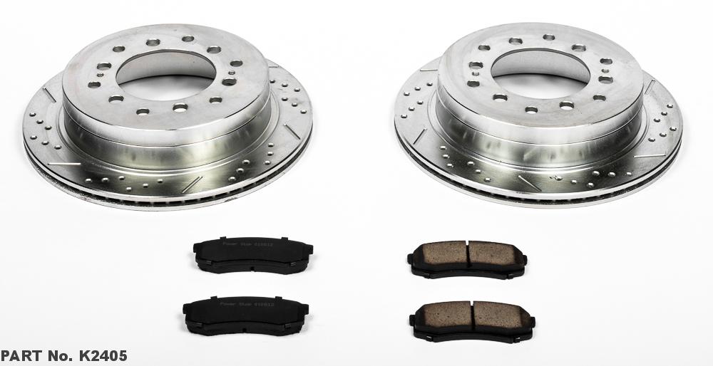 Power Stop K3073 Rear Z23 Evolution 1-Click Brake Kit for Tundra//Sequoia