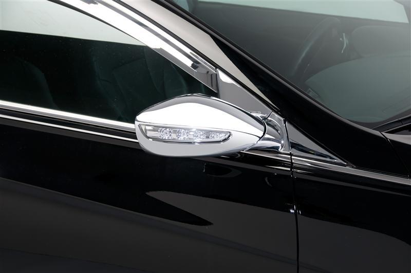 Side Mirror Braket Chrome A Pillar Cover For 11-14 Hyundai YF Sonata