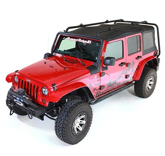 Rugged Ridge 11703 02 Roof Rack For Jeep Wrangler Ebay