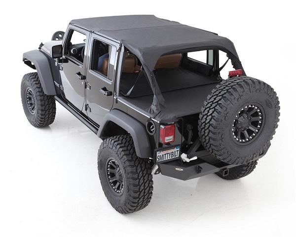 Jeep Wrangler 4 Door Soft Top >> Smittybilt 761435 Tonneau Cover Soft Top Extension For Jeep Wrangler
