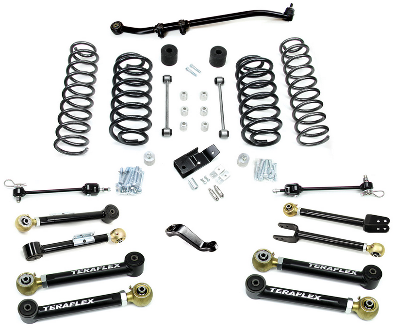 teraflex 1456450 4 u0026quot  lift kit w  8 flexarms  trackbar for tj