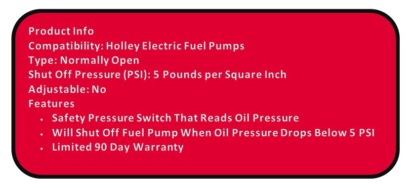 holley blue fuel pump installation instructions