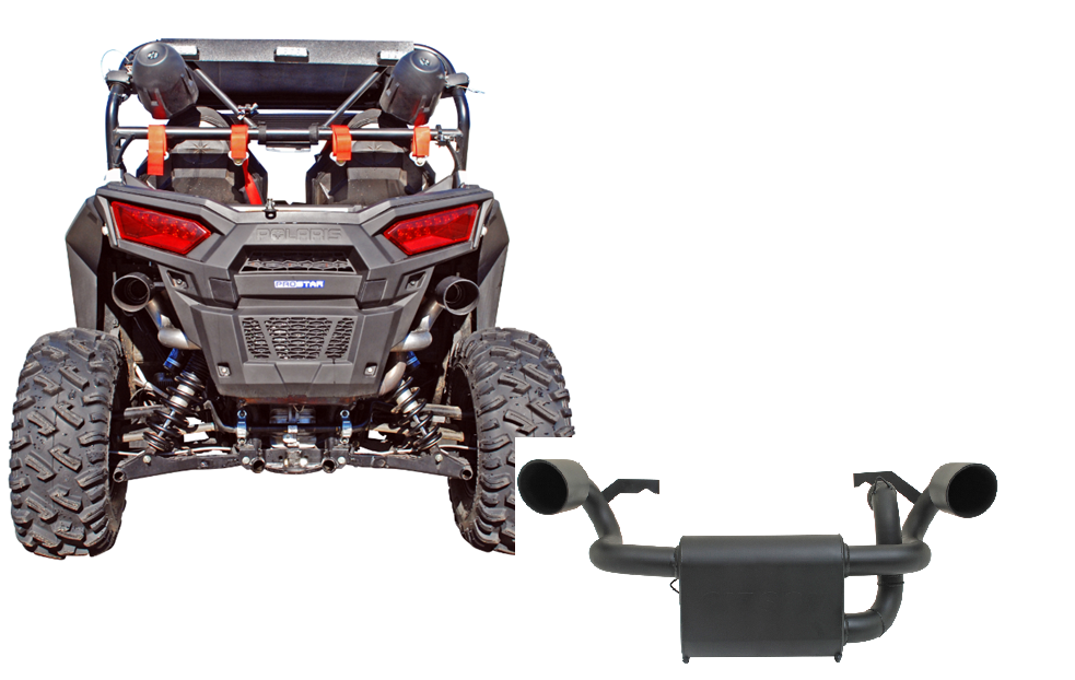 Details about Gibson 98024 Black Ceramic UTV Dual Exhaust System for  Polaris RZR 900S