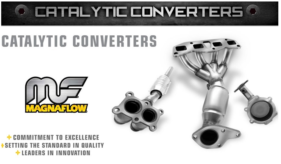 MAGNAFLOW 54054 SINGLE ROUND UNIVERSAL CATALYTIC CONVERTER 2/' IN//OUT