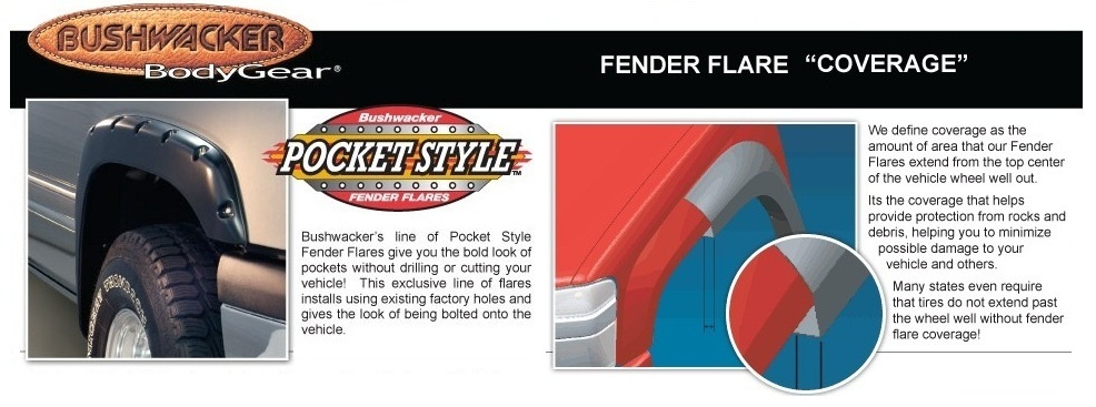 Bushwacker 30911-02 Front & Rear Pocket Style Fender