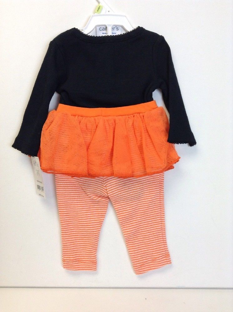 nwt-Carter/'s 2 piece Halloween Outfit-DADDY/'S UNDER MY SPELL-Tutu-Baby Girl-NB