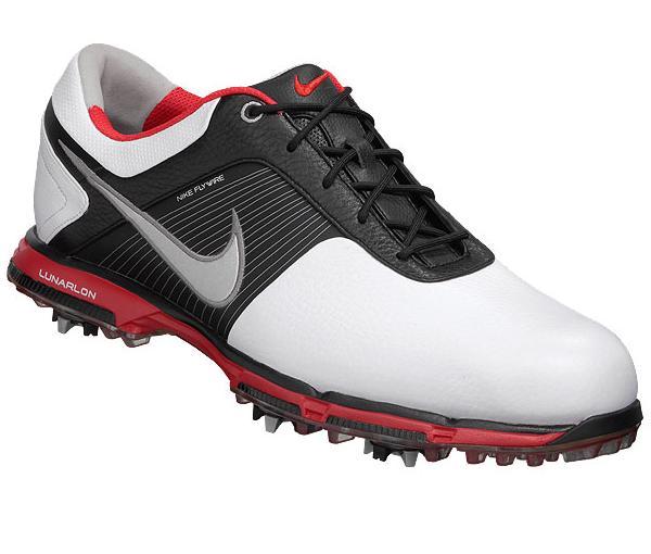 mens nike flywire lunar on golf shoes size 12 medium black