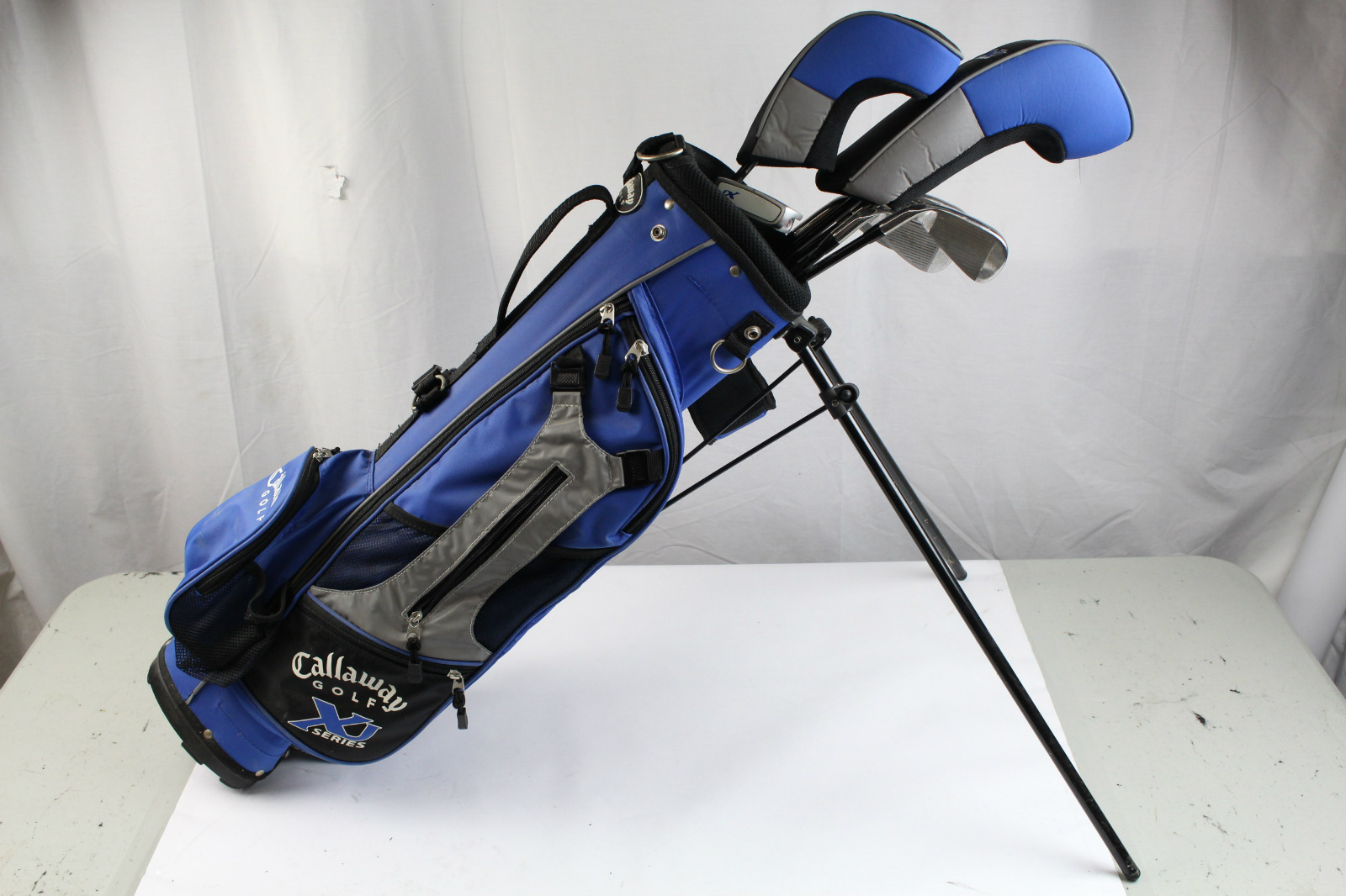 callaway xj series junior kids complete golf club set driver putter w bag blue ebay. Black Bedroom Furniture Sets. Home Design Ideas