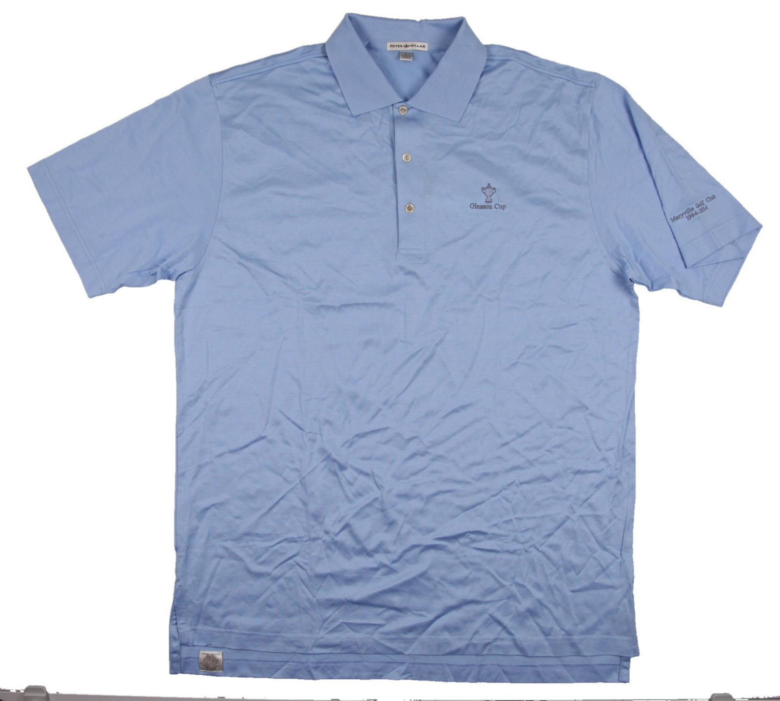 New Men 39 S Peter Millar Polo Golf Shirt Baby Blue Size L Cc