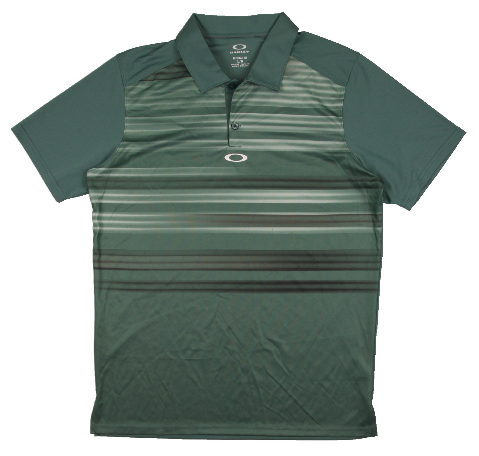 New men 39 s oakley clifford polo golf shirt forest green for Forest green polo shirts
