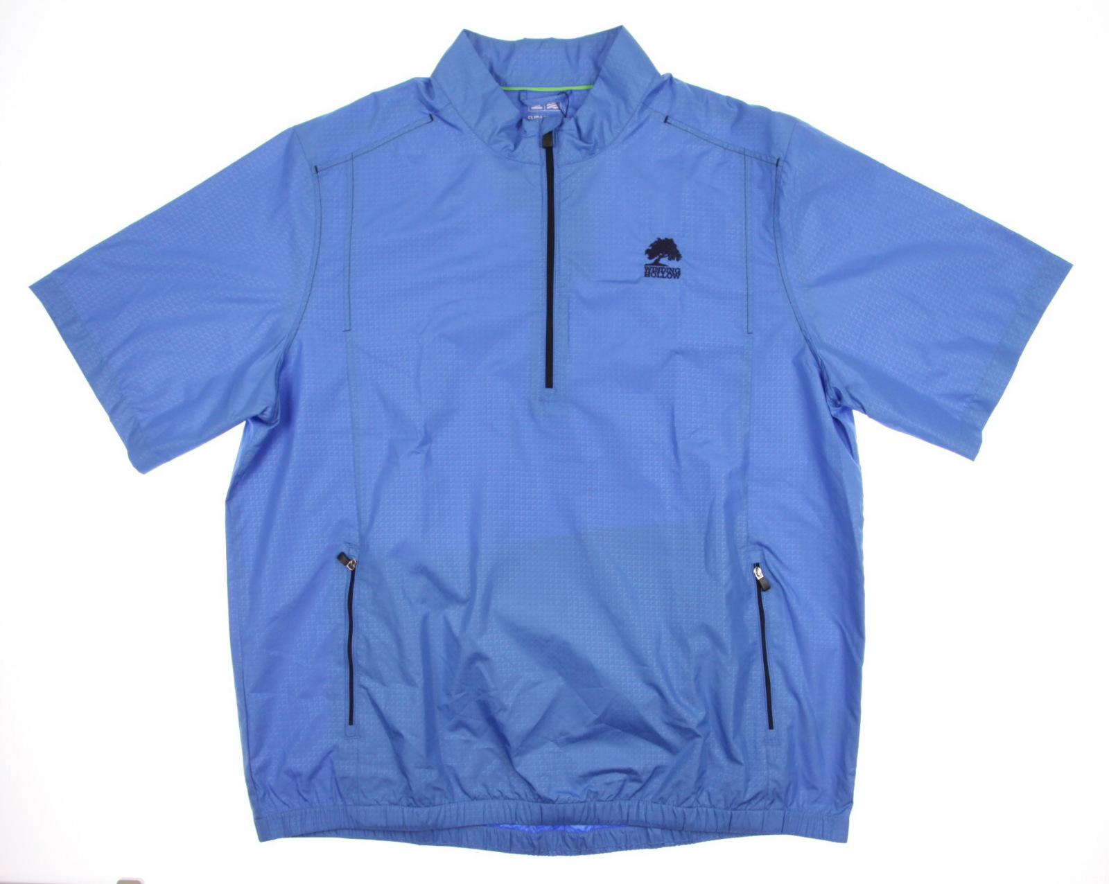 New men 39 s adidas climaproof windshirt rain blue xl ss for Adidas golf rain shirt