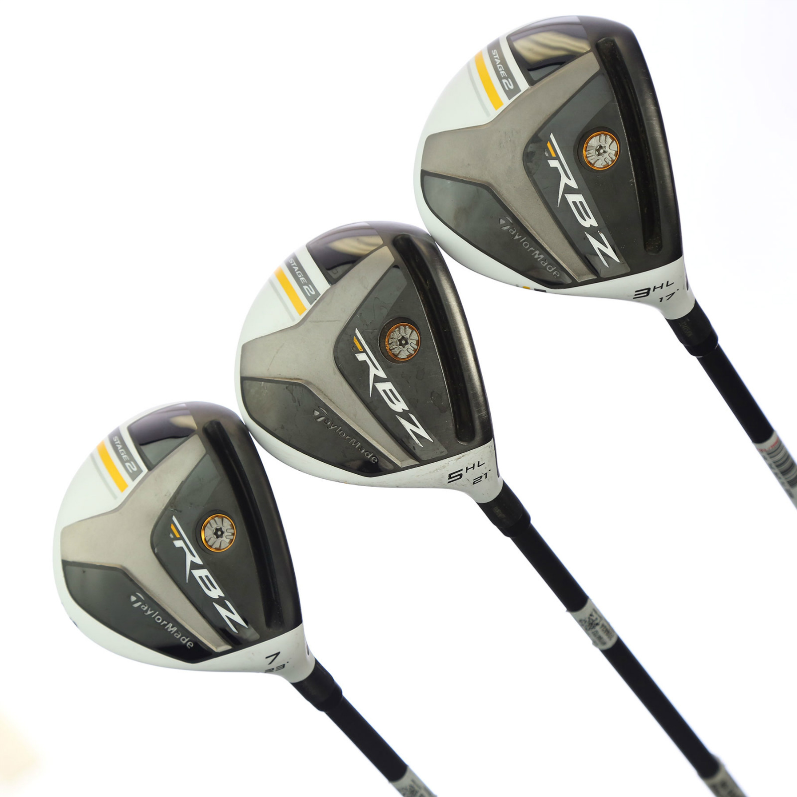 Right Taylormade Rbz Staqe 2 3hl 5hl 7w Fairway Woods Set