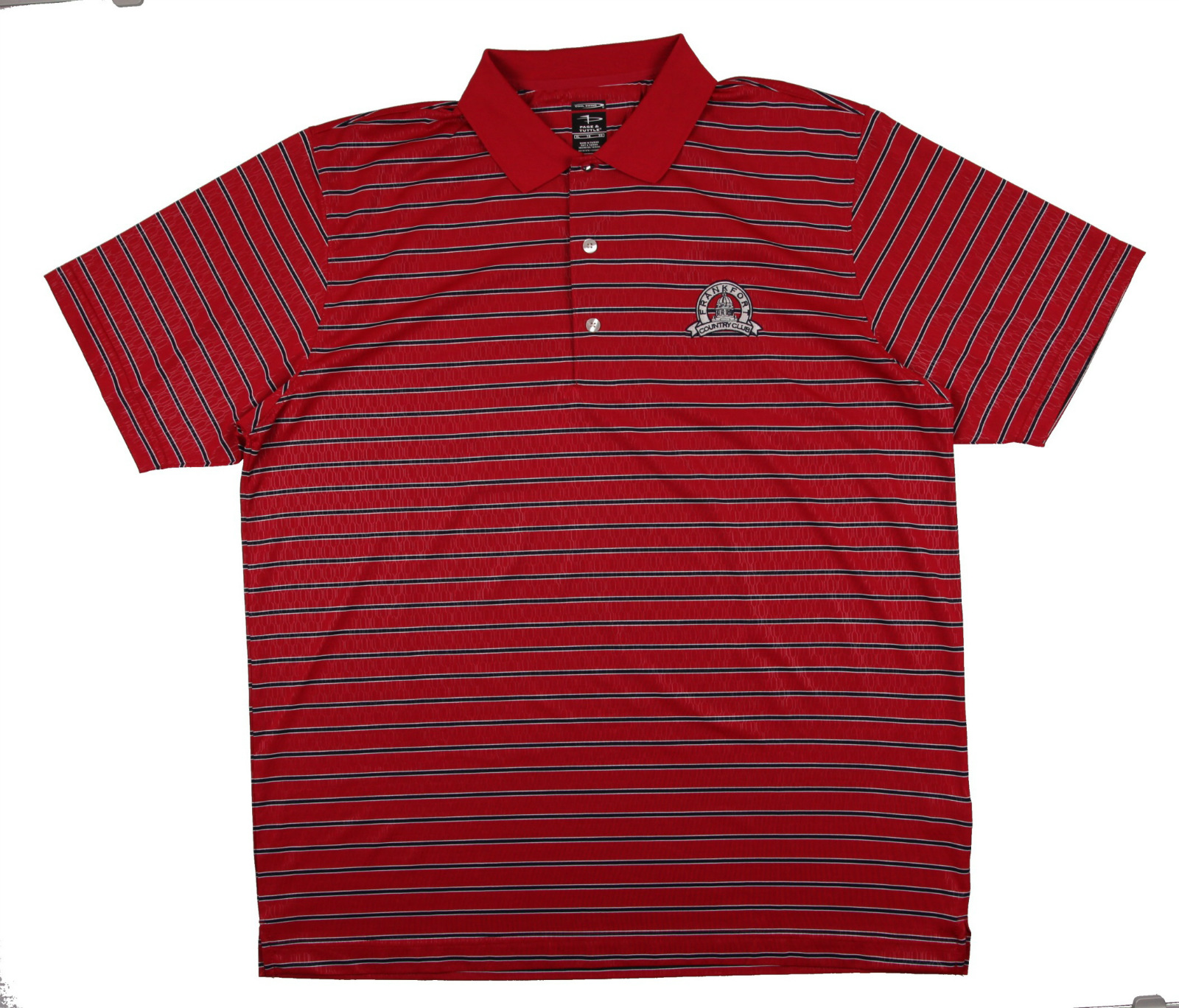 New Men 39 S Page Tuttle Short Sleeve Red Black W Logo Golf