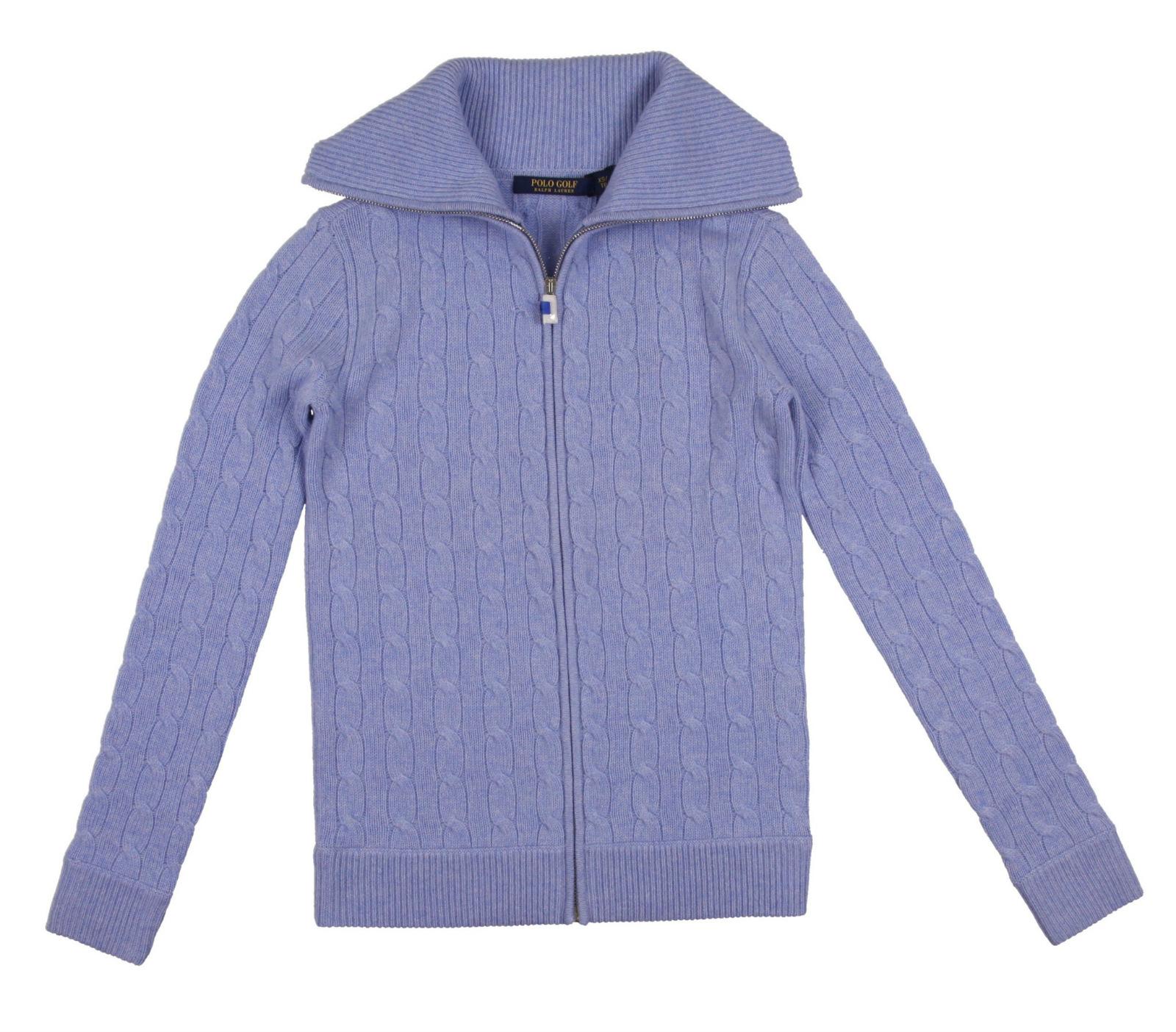 NEW WomenS Ralph Lauren Cable Knit Cashmere Golf Sweater ...